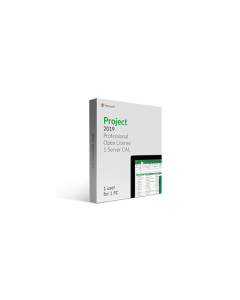Microsoft Project 2019 Professional w/ 1 Server CAL Open License