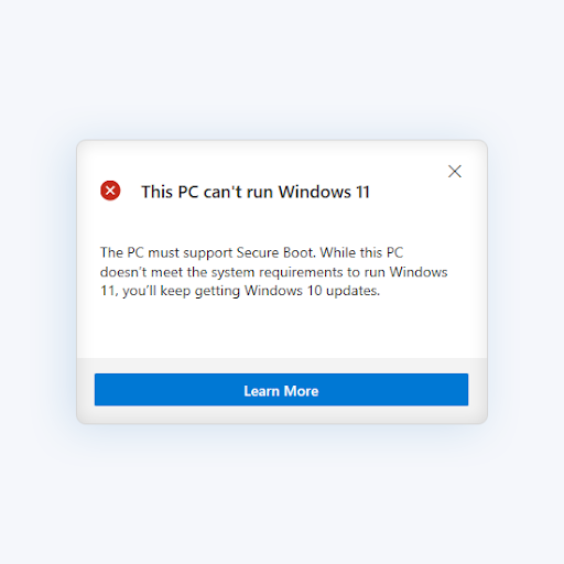 """How To Fix the """"This PC Can't Run Windows 11"""" Error"""